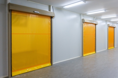Manufacturers of fire retardant fabrics for industrial doors textile